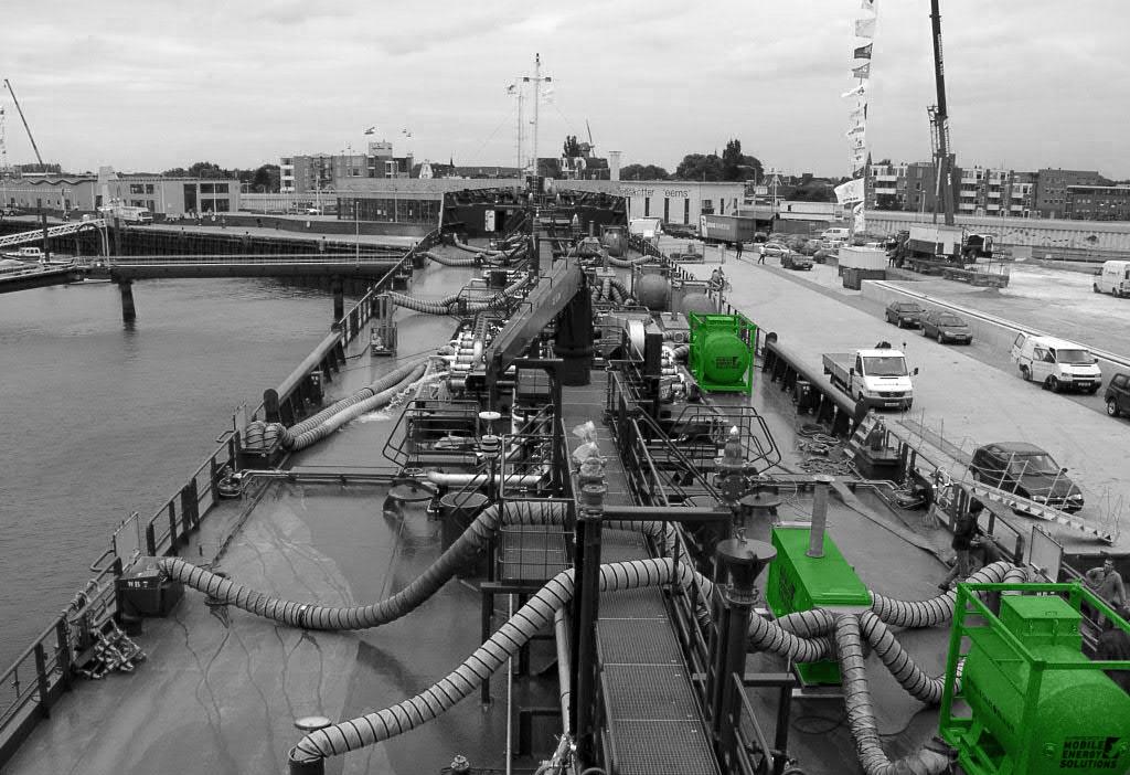 4) Mobiele verwarming tankschip voor uitvoeren schilderwerken