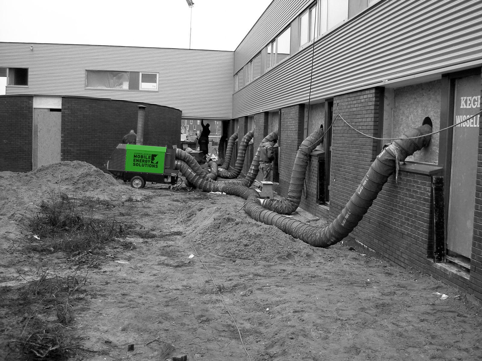 8) Mobiele verwarming appartementen in aanbouw