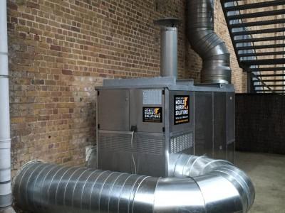 Installatie verwarming 400 KW
